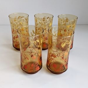 Vintage Libbey Amber Glass Highball Tumbler